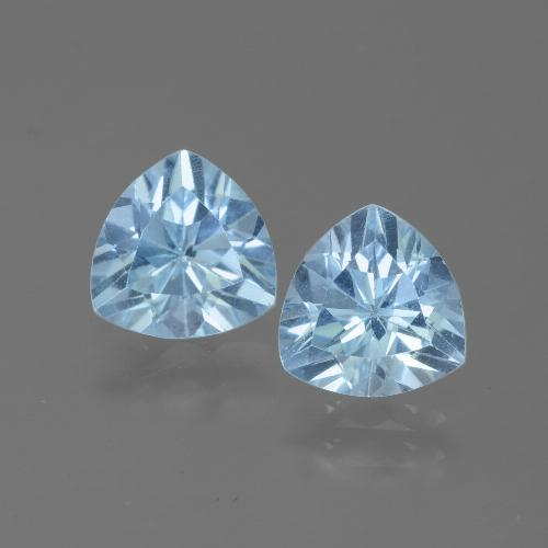 Swiss Blue Topaz Gem - 1.3ct Trillion Facet (ID: 445702)