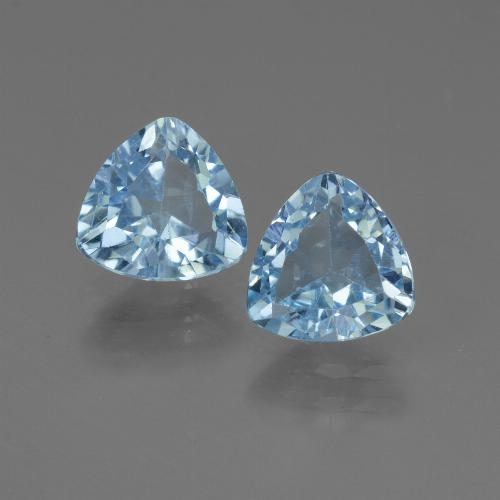 Swiss Blue Topaz Gem - 1.3ct Trillion Facet (ID: 445875)