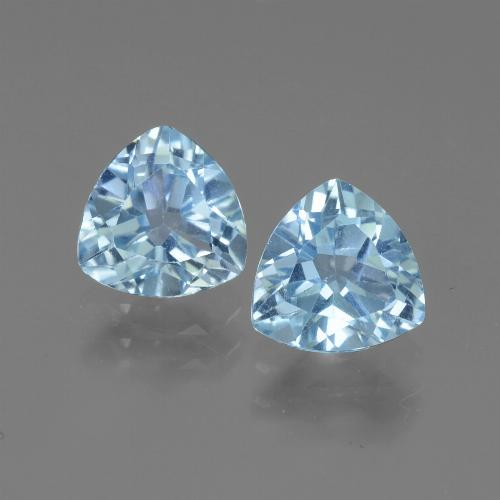 Swiss Blue Topaz Gem - 1.5ct Trillion Facet (ID: 445879)
