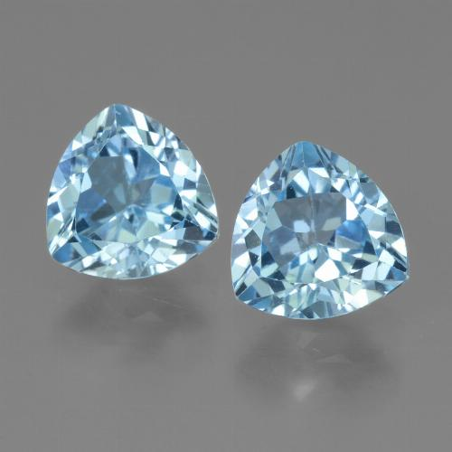 Swiss Blue Topaz Gem - 1.5ct Trillion Facet (ID: 445882)