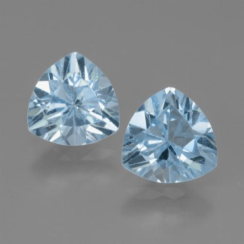 Baby Blue Topaz Gem - 1.3ct Trillion Facet (ID: 445883)