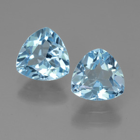 Swiss Blue Topaz Gem - 1.3ct Trillion Facet (ID: 445884)