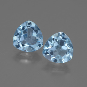 Baby Blue Topaz Gem - 1.4ct Trillion Facet (ID: 445947)