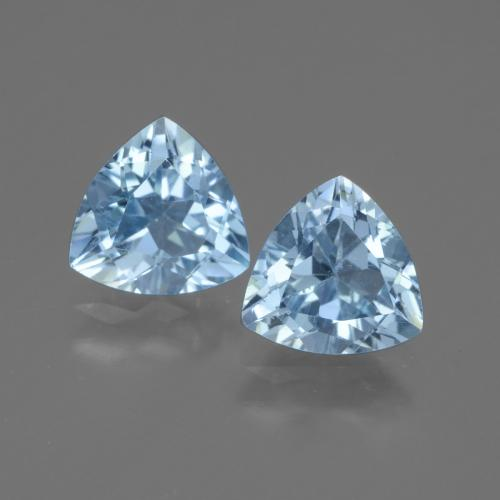 Swiss Blue Topaz Gem - 1.3ct Trillion Facet (ID: 445949)