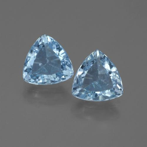 Swiss Blue Topaz Gem - 1.3ct Trillion Facet (ID: 445951)