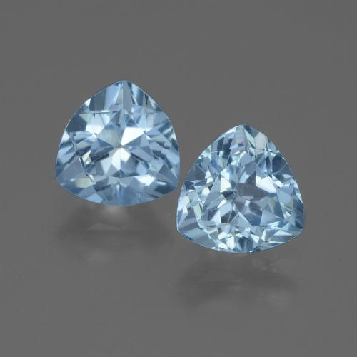 Swiss Blue Topaz Gem - 1.4ct Trillion Facet (ID: 445956)