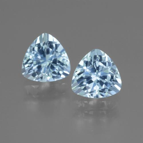 Swiss Blue Topaz Gem - 1.6ct Trillion Facet (ID: 446015)