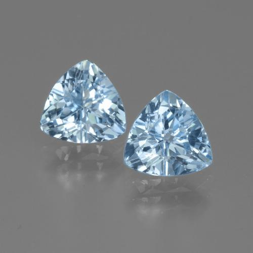 Swiss Blue Topaz Gem - 1.3ct Trillion Facet (ID: 446017)