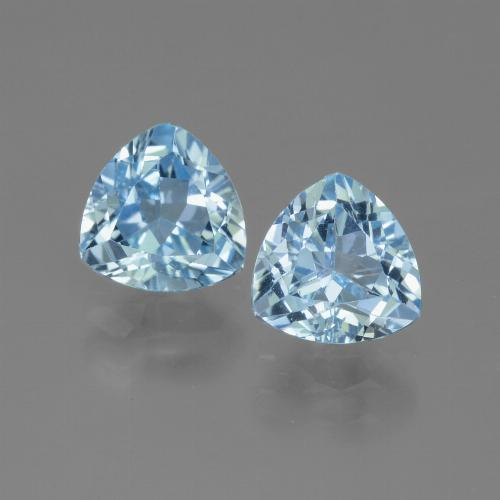 Swiss Blue Topaz Gem - 1.5ct Trillion Facet (ID: 446019)