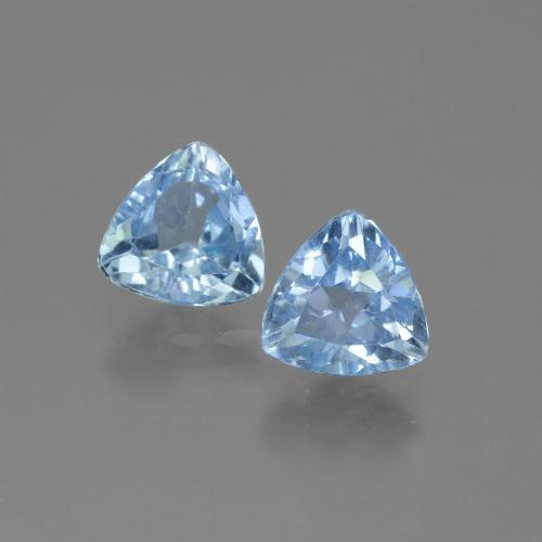 Swiss Blue Topaz Gem - 1.4ct Trillion Facet (ID: 446047)