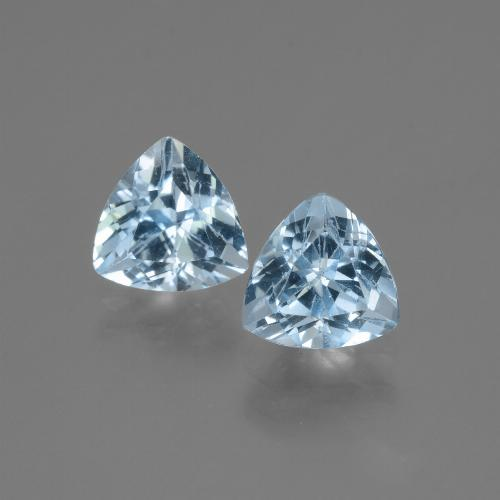Swiss Blue Topaz Gem - 1.6ct Trillion Facet (ID: 446049)