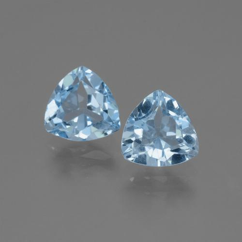 Swiss Blue Topaz Gem - 1.4ct Trillion Facet (ID: 446051)