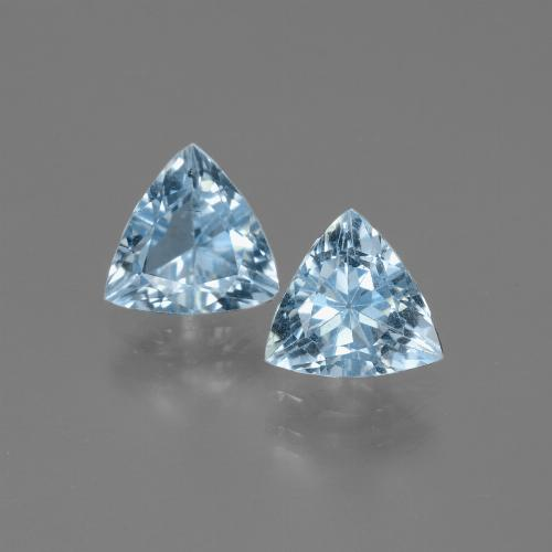 Swiss Blue Topaz Gem - 1.3ct Trillion Facet (ID: 446053)