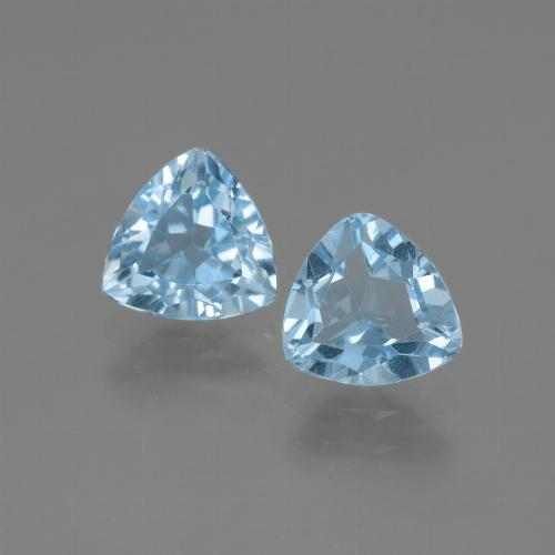 Swiss Blue Topaz Gem - 1.4ct Trillion Facet (ID: 446056)