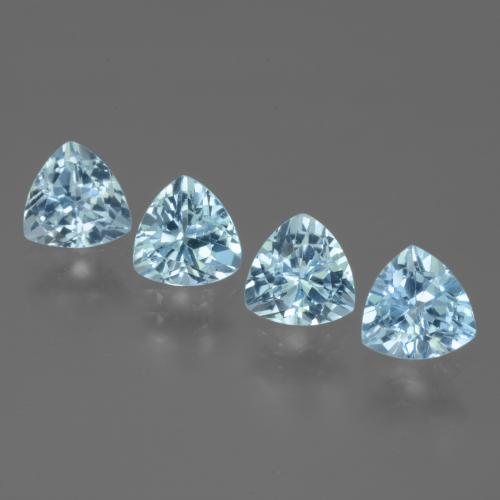 Swiss Blue Topaz Gem - 1.4ct Trillion Facet (ID: 446084)