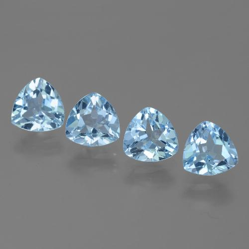 Swiss Blue Topaz Gem - 1.4ct Trillion Facet (ID: 446085)