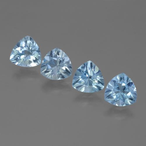 Swiss Blue Topaz Gem - 1.2ct Trillion Facet (ID: 446088)