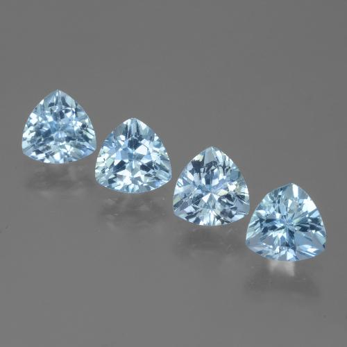 Swiss Blue Topaz Gem - 1.5ct Trillion Facet (ID: 446089)