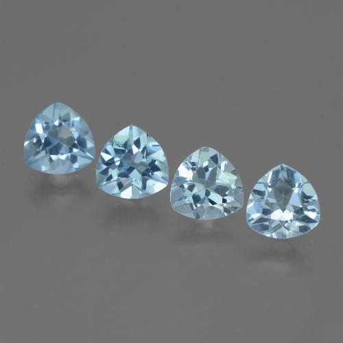 Swiss Blue Topaz Gem - 1.3ct Trillion Facet (ID: 446105)