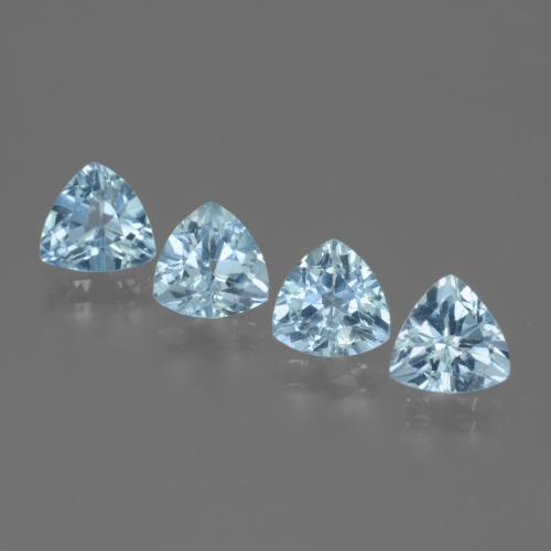 Swiss Blue Topaz Gem - 1.4ct Trillion Facet (ID: 446106)