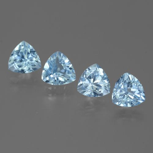 Swiss Blue Topaz Gem - 1.5ct Trillion Facet (ID: 446109)