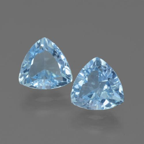 Swiss Blue Topaz Gem - 1.3ct Trillion Facet (ID: 446118)