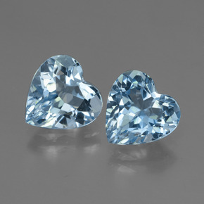 Swiss Blue Topaz Gem - 2.9ct Heart Facet (ID: 447994)