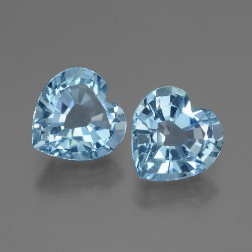 Swiss Blue Topaz Gem - 2.9ct Heart Facet (ID: 447995)