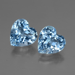 Swiss Blue Topaz Gem - 3ct Heart Facet (ID: 447996)