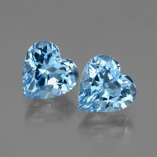 Swiss Blue Topaz Gem - 3.1ct Heart Facet (ID: 448000)