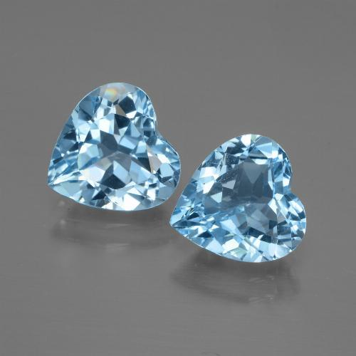 Baby Blue Topaz Gem - 2.6ct Heart Facet (ID: 448002)