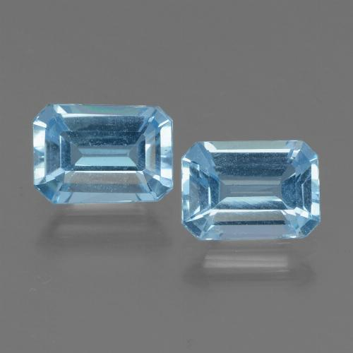 Swiss Blue Topaz Gem - 1.1ct Octagon Step Cut (ID: 448019)