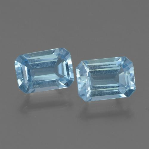 Swiss Blue Topaz Gem - 1ct Octagon Step Cut (ID: 448026)