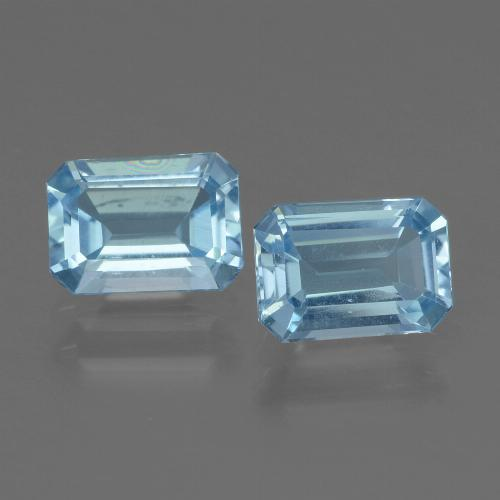 Swiss Blue Topaz Gem - 1.1ct Octagon Step Cut (ID: 448027)