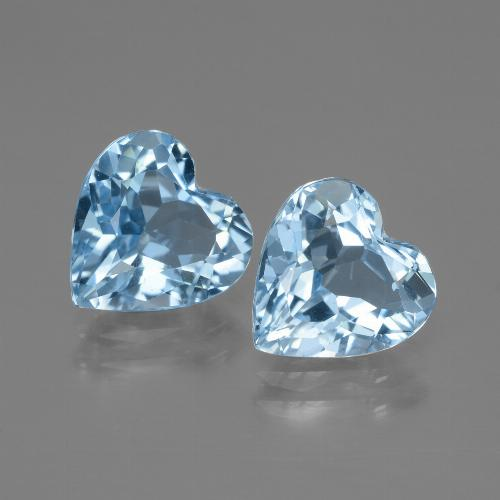Swiss Blue Topaz Gem - 2.8ct Heart Facet (ID: 448043)