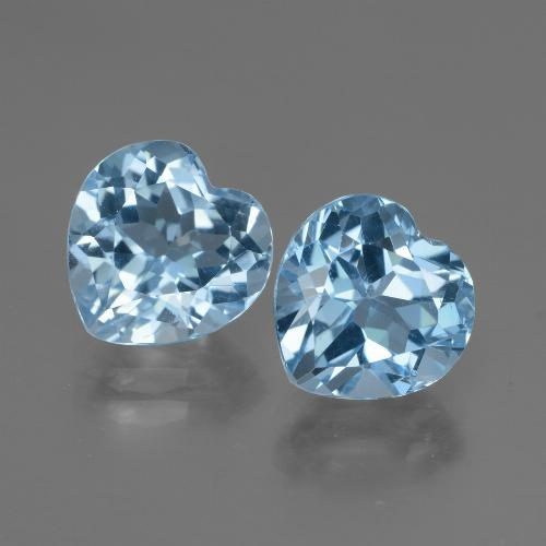 3.4ct Heart Facet Swiss Blue Topaz Gem (ID: 448045)