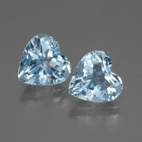 Swiss Blue Topaz Gem - 3ct Heart Facet (ID: 448047)