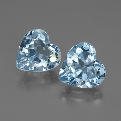 Swiss Blue Topaz Gem - 2.8ct Heart Facet (ID: 448051)