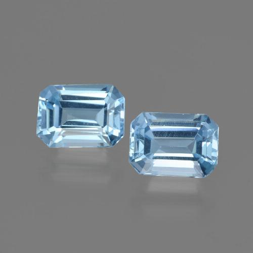Baby Blue Topaz Gem - 1.1ct Octagon Step Cut (ID: 448091)