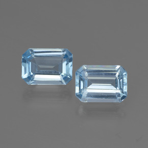 Swiss Blue Topas Edelstein - 1.1ct Octagon Stufenschliff (ID: 448095)