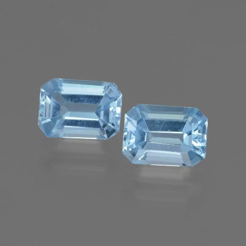 Swiss Blue Topaz Gem - 1.2ct Octagon Step Cut (ID: 448098)