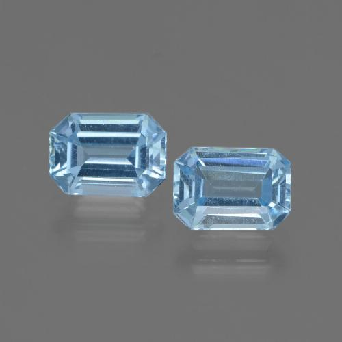Swiss Blue Topaz Gem - 1.1ct Octagon Step Cut (ID: 448100)
