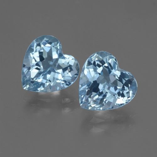 Swiss Blue Topaz Gem - 3.1ct Heart Facet (ID: 448114)