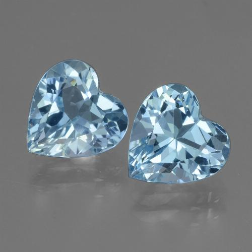 Swiss Blue Topaz Gem - 2.8ct Heart Facet (ID: 448118)