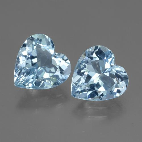 Swiss Blue Topaz Gem - 2.5ct Heart Facet (ID: 448122)