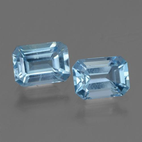 Swiss Blue Topaz Gem - 1.2ct Octagon Step Cut (ID: 448164)