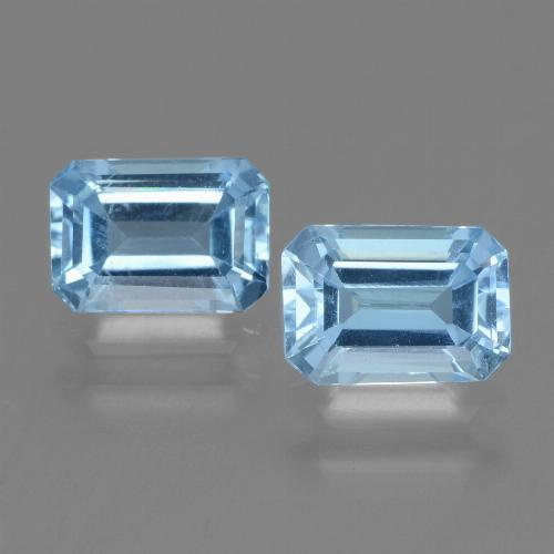 Swiss Blue Topaz Gem - 1.2ct Octagon Step Cut (ID: 448167)