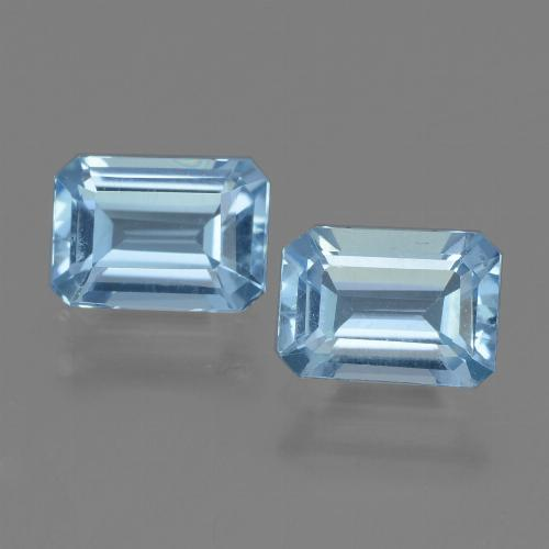 Swiss Blue Topaz Gem - 1.2ct Octagon Step Cut (ID: 448168)