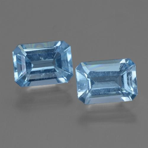 Swiss Blue Topaz Gem - 1.2ct Octagon Step Cut (ID: 448169)