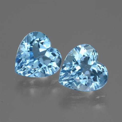 Swiss Blue Topaz Gem - 2.9ct Heart Facet (ID: 448188)